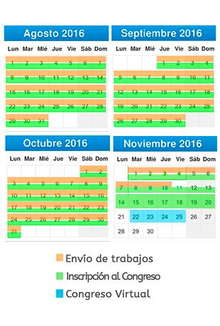 Calendario del Congreso Virtual de la SEEUE